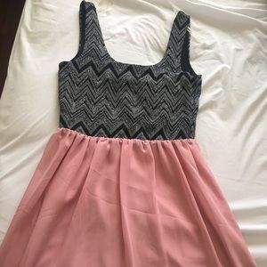 Glitter black and pink dress NWT